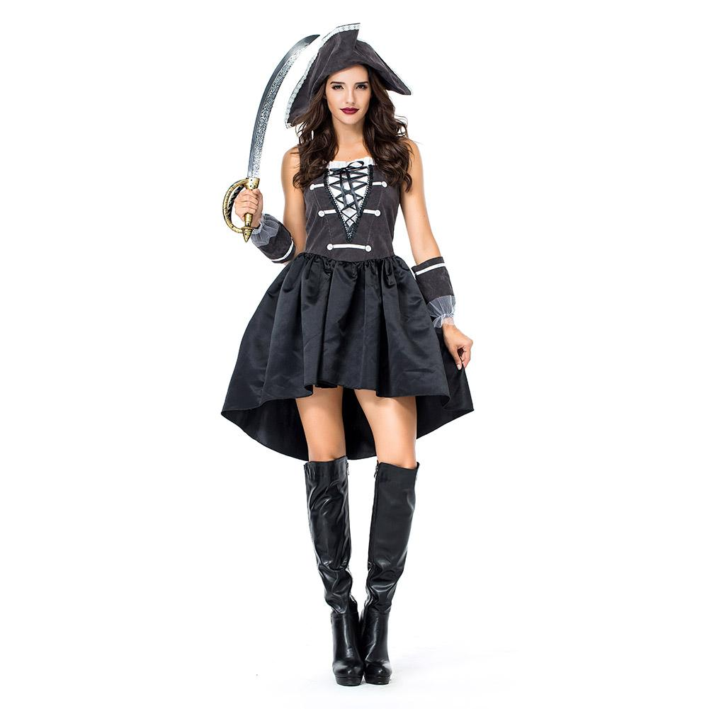 Women Halloween Pirate Costume Carnival Costume Adult Costume Fancy Party Dress Female Pirate Cosplay Costume