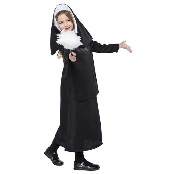 Kids Girls Black Nun Costume Halloween Cosplay Costumes The Conjuring Children Halloween Costumes Outfit