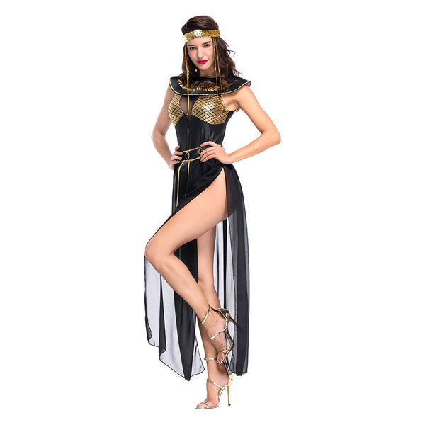 Women Halloween Carnival Party Egyptian Cleopatra Costume Adult Egypt Queen Cosplay Costumes Sexy Golden Fancy Dress