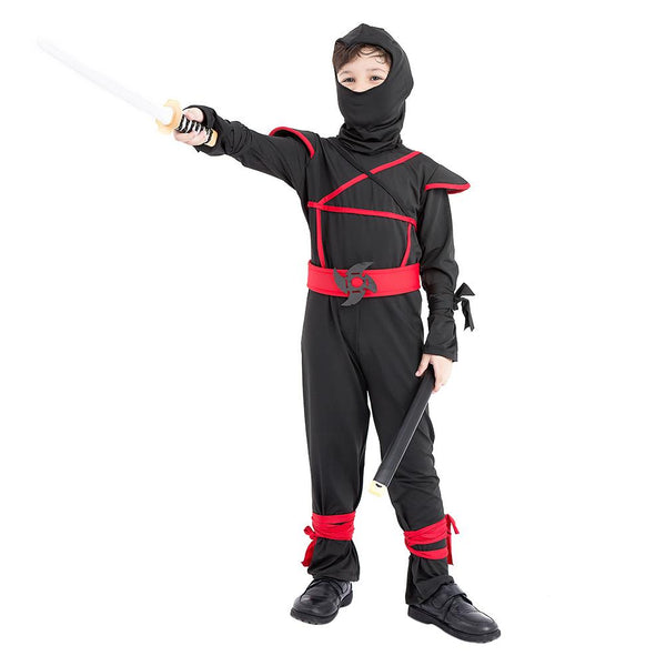 Kids Boys Ninja Costumes Halloween Cosplay Costume Martial Arts Ninja Costumes Fancy Party Uniform Outfits