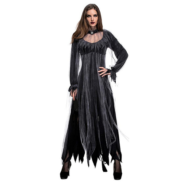 Women Halloween Horror Ghost Bride Zombie Costume Bar Party Stage Vampire Demon Costume Party Festival Outfit