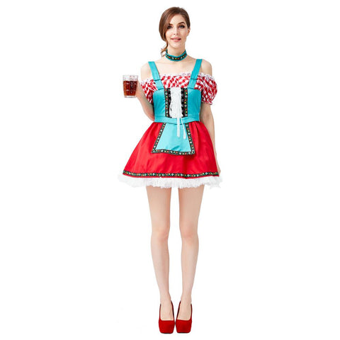 Women Halloween Germany Bavaria Oktoberfest Costume Beer Festival Maid Cosplay Costume Bar Party Costume Fancy Dress