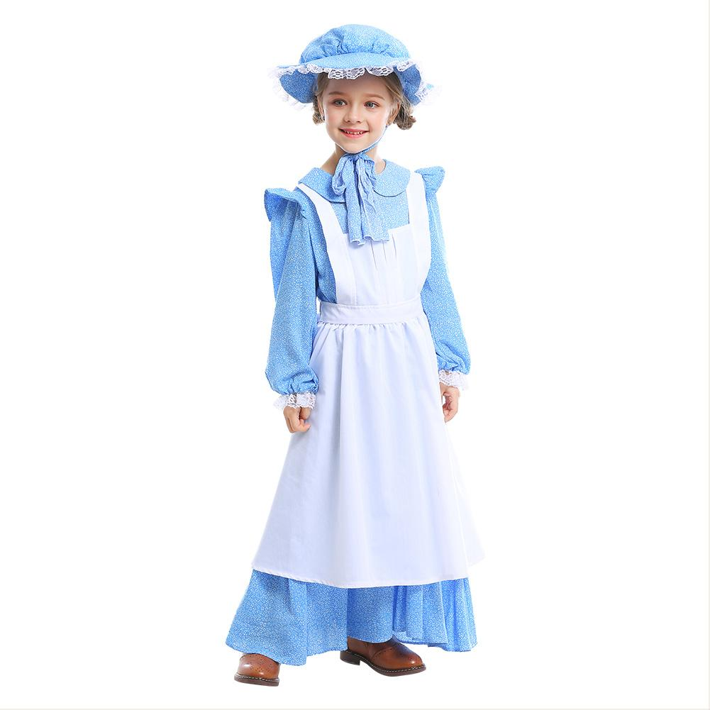 Kids Girls Halloween Costumes Teen Cute Funny Cosplay Farm Pastoral Costume Stage Drama Costume