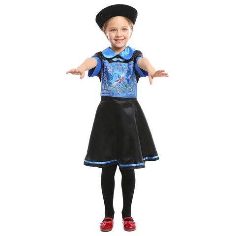 Kids Girls Halloween Zombie Costume Ghost Festival Party Cosplay Chinese Traditional Zombie Costume