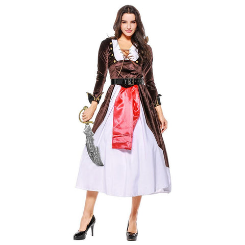 Women Halloween Sexy Caribbean Pirate Costume Carnival Adult Pirate Jack Sparrow Cosplay Female Fancy Dress