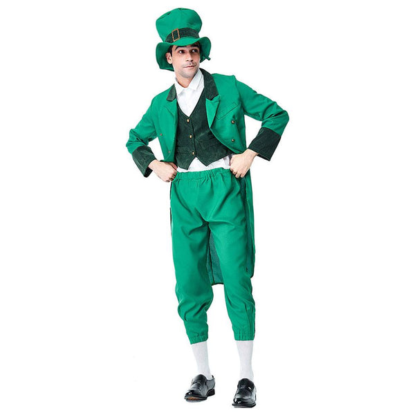 Men Lucky Charms Leprechaun Irish Party Dress St Patrick's Day Fancy Dress Costume Outfit Performance Cosplay Clothing