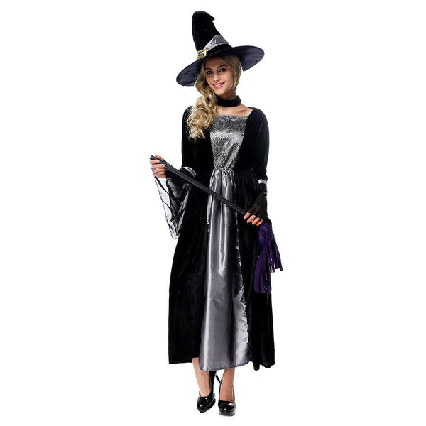 Adult Women Deluxe Sexy Witch Evil Queen Costume Magic Moment Costume Halloween Cosplay Fancy Dress