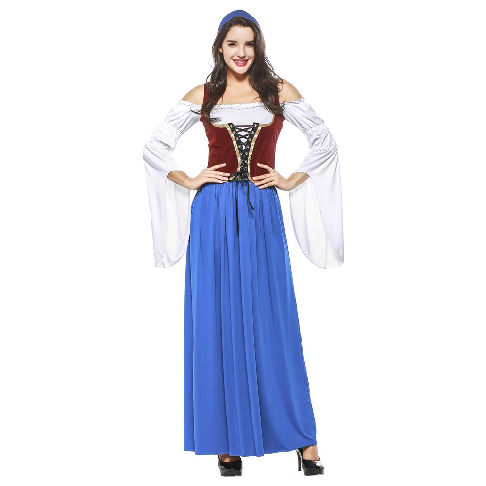 Adult Women Halloween Germany Oktoberfest Party Maid Costume Sexy Bavarian Beer Girl Cosplay Fantasia Dress