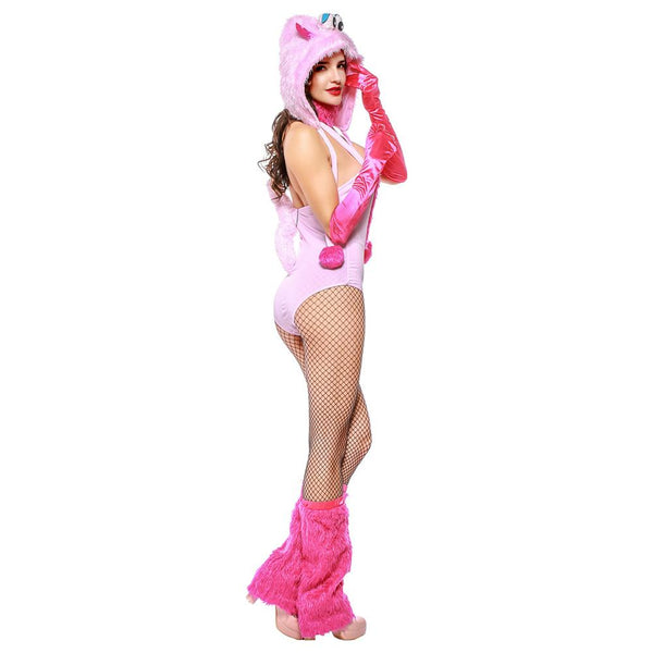 Women Halloween Cute Pink Monster Costume Carnival Animal Cosplay Furry Costume Sexy Clothes Outfit