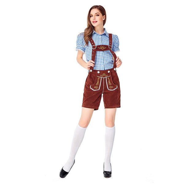 Women Traditional Germany Oktoberfest Clothing Stage Costumes National Costumes Halloween Waitress Costumes
