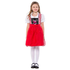 Kids Oktoberfest Uniform Beer Girl Fantasia Cospaly Party Dress Children Girls Performance Costumes
