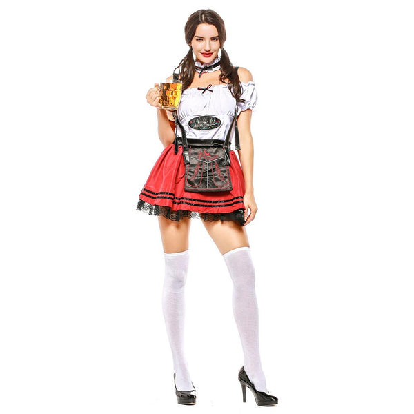 Women Oktoberfest Maid Dress Halloween Cosplay Costumes German Beer Festival Oktoberfest Party Suits
