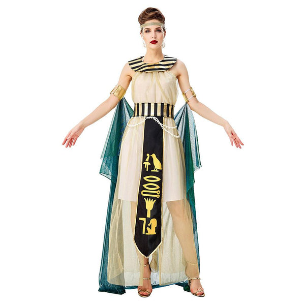Adult Women Egyptian Royal Cleopatra Cosplay Costume Pharaoh Uniform Halloween Costume Sexy Fancy Dress