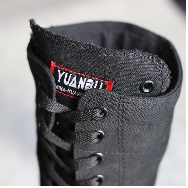 Canvas Casual High Top Shoes Lace-Up & Zipper