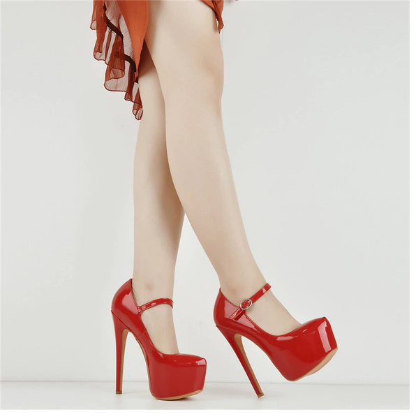Onlymaker Mary Jane Hidden Platform Pumps with Stiletto High Heels