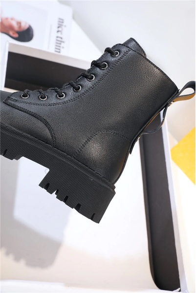 Platform Lace Up Ankle Boots