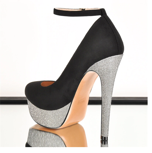 Onlymaker Platform Pumps Ankle Strap Stiletto High Heel