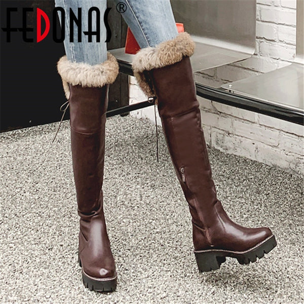 Platform Over The Knee Riding Boots