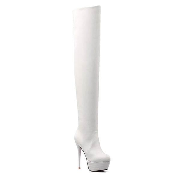 ASUMER 2020 Over The Knee Platform Stiletto Stretch Boots