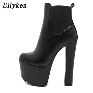 High Heel Platform Ankle Boots