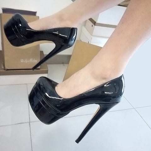Onlymaker Multi Platform Pumps with Stiletto High Heels