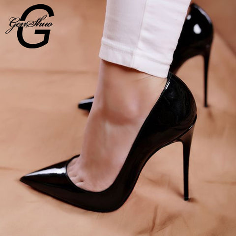 High Heel Pumps with Pointed Toes and 12cm Stiletto Heels