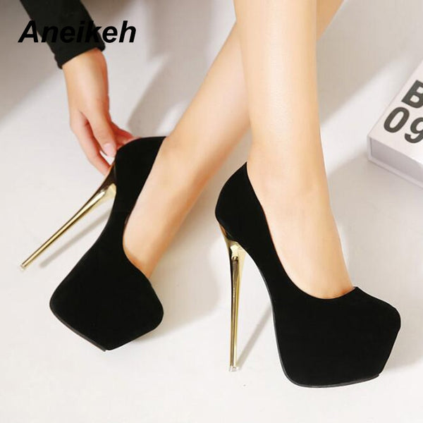 Aneikeh Platform Stiletto Pumps with 16cm Heels