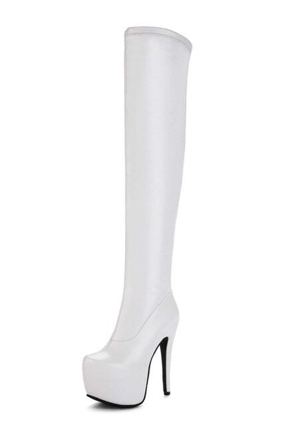 WETKISS Designer Bar Over The Knee Boots New Arrival Women's Super High Heel Shoes Autumn Stiletto Boots Platform Female Shoes