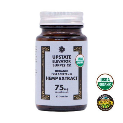 Upstate Elevator Organic Full Spectrum Capsules 75mg - 30 ct