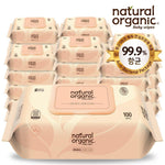 Natural Organic Baby Wipes (100 Sheets-Smart Cap)