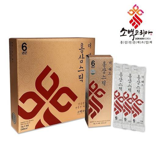 SoBaekKorea Red Ginseng Stick The Red