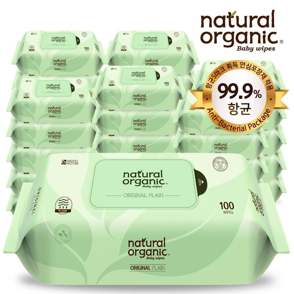NaturalOrganic Baby Wipes Original (100, without cap)