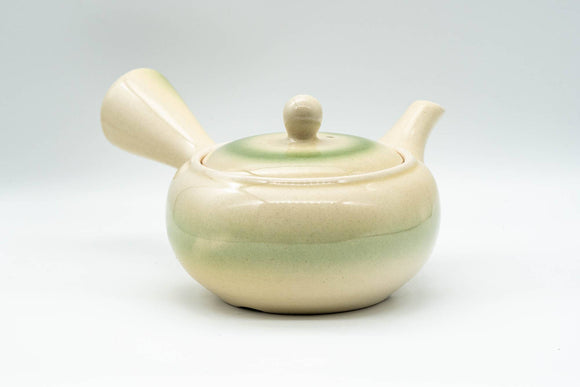 Japanese Kyusu - Lime Green Glazed Obi-ami 360-Degree Filter Teapot - 350ml