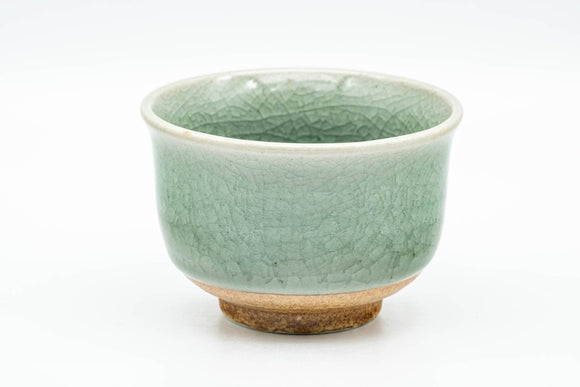 Japanese Teacup - Crazed Celadon Green Yunomi - 120ml
