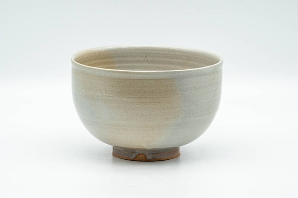 Japanese Matcha Bowl - Beige Grey Glazed Wan-nari Chawan - 350ml