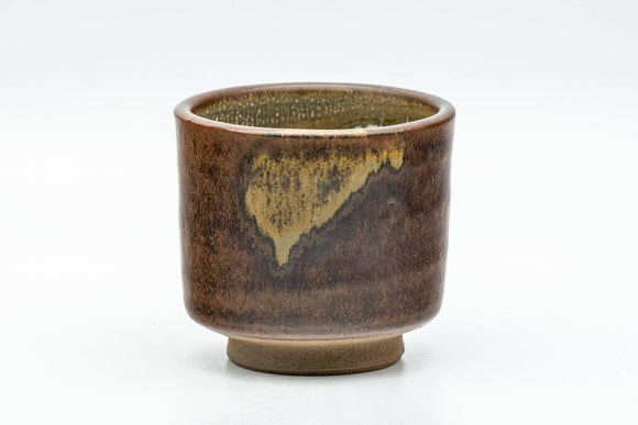 Japanese Teacup - Brown Drip- and White Inner-Glazed Yunomi - 100ml