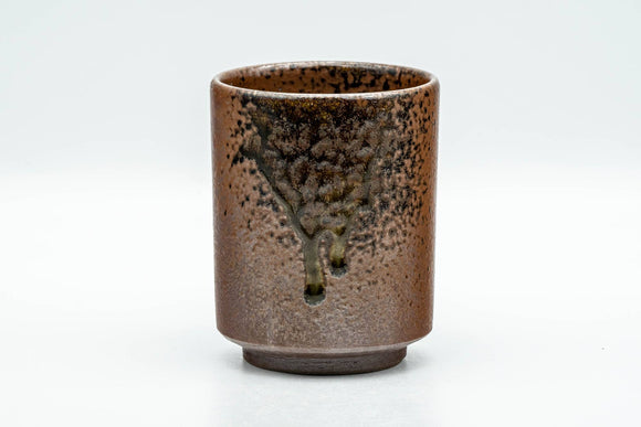 Japanese Teacup - Ash Green Drip-Glazed Shigaraki-yaki Yunomi - 160ml