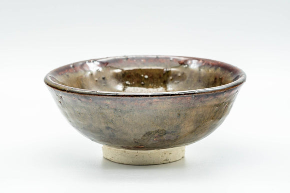 Japanese Matcha Bowl - Small Brown Glazed Textured Chawan - 150ml