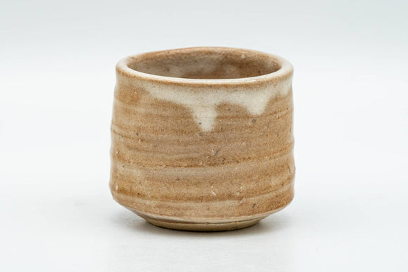 Japanese Teacup - Beige Drip-Glazed Hagi-yaki Yunomi - 70ml
