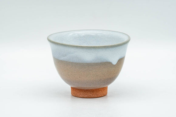 Japanese Teacup - Beige White Glazed Hagi-yaki Yunomi - 70ml