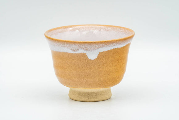 Japanese Teacup - Beige White Inner-Glazed Hagi-yaki Yunomi - 90ml