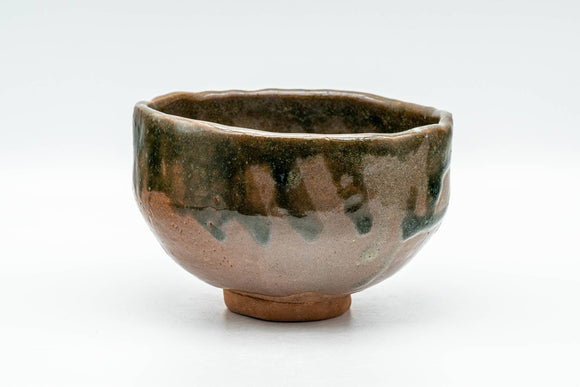 Japanese Matcha Bowl - Brown Green Drip-Glazed Wabi-Sabi Chawan - 300ml