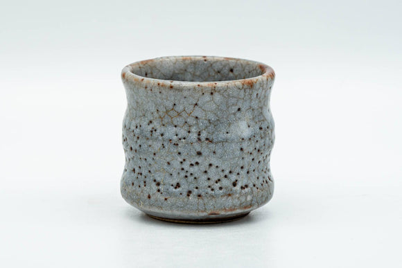 Japanese Teacup - Blue Shino Glazed Ribbed Guinomi - 50ml