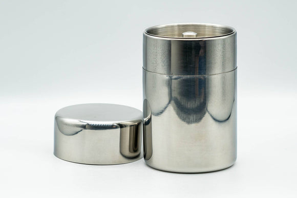 Chazutsu - Silver Stainless Steel Tea Canister - 200ml