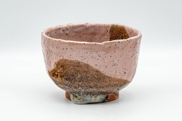 Japanese Matcha Bowl - Pink and Brown Shino Glazed Wabi-Sabi Chawan - 300ml