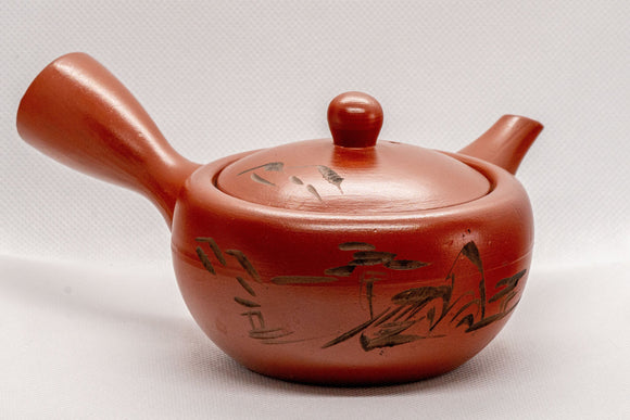 Japanese Kyusu - Tokoname-yaki Ceramic Teapot with Mesh Strainer - 225ml