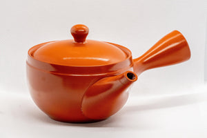 Japanese Kyusu - いわ多 Red Shudei Tokoname-yaki Ceramic Teapot - 275ml