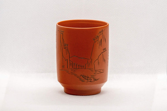 Japanese Teacup - Mountainous Tsutsu-gata Tokoname-yaki Yunomi - 150ml