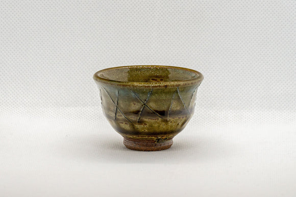 Japanese Teacup - Moss Green Guinomi - 40ml