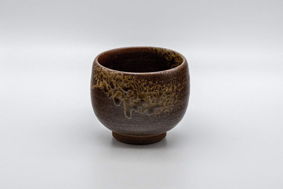 Japanese Teacup - Dark Brown Glazed Yunomi - 145ml